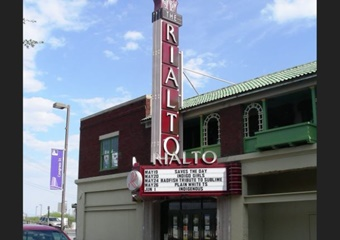 Rialto Theater in Tucson, old-fashioned sign out front with current shows listed in box letters on the sign, Ticketnetwork Arizona show tickets, concert tickets Tucson, AZ
